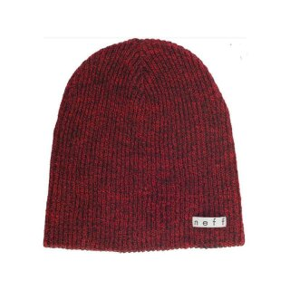 Daily Reversible Beanie - black red heather black