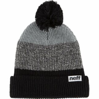 Snappy Beanie - black grey grey