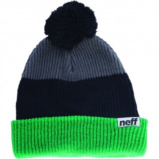 Snappy Beanie - green black grey