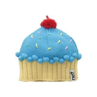 Cupcake Beanie - blue