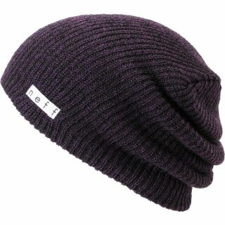 Daily Heather Beanie - black purple