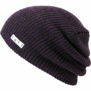 Daily Heather Beanie - black purple - osfa