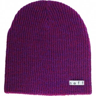 Daily Heather Beanie - maroon purple