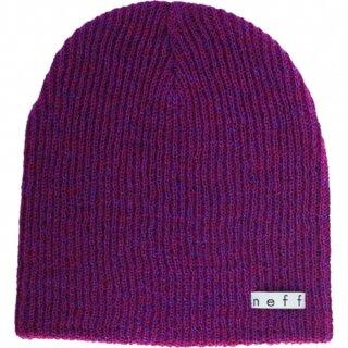Daily Heather Beanie - maroon purple osfa