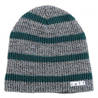 Daily Stripe Beanie - grey green
