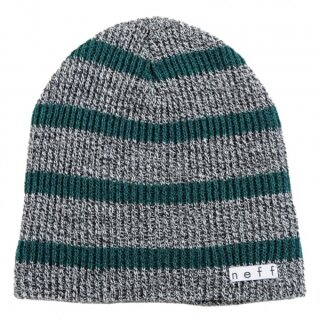 Daily Stripe Beanie - grey green osfa