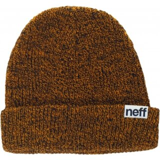 Fold Heather Beanie - black orange