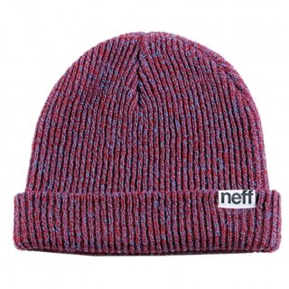 Fold Heather Beanie - blue red