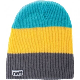 Trio Beanie - charcoal yellow teal osfa