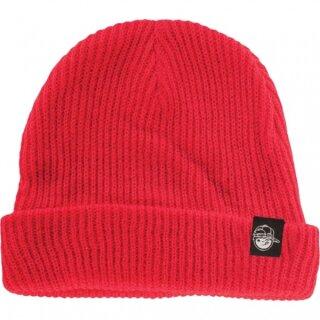 Youth Fold Beanie - red osfa