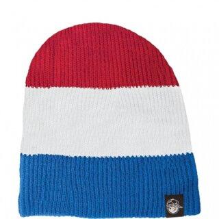 Youth Trio Beanie - blue white red osfa