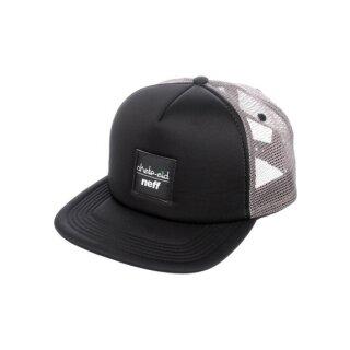 Neff x Skate Aid Trucker Cap - black grey