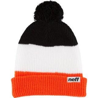 Snappy Beanie - orange white black