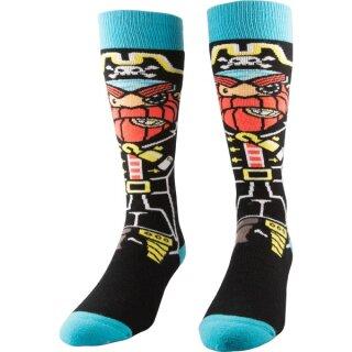 Youth Pirate Snowboard Socken - black