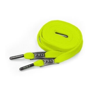 Full Metal Laces - neon lime green