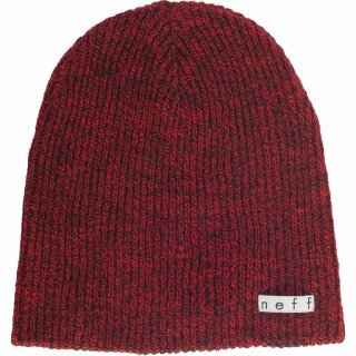 Daily Heather Beanie - black red