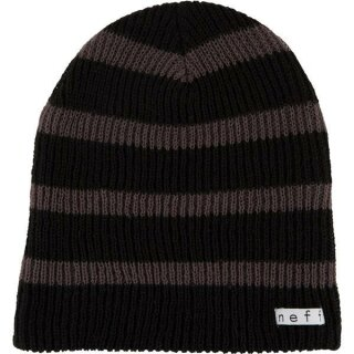 Daily Stripe Beanie - black charcoal