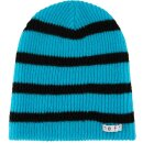 Daily Stripe Beanie - cyan black