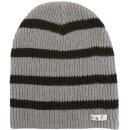 Daily Stripe Beanie - grey black