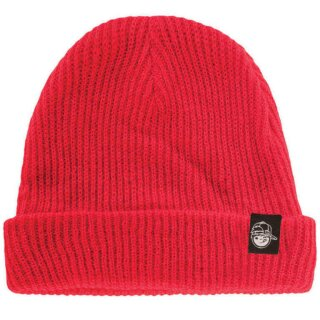 Youth Fold Beanie - red