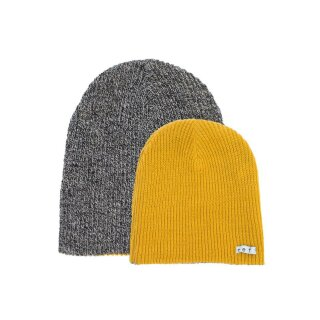 Daily Reversible Beanie - black heather gold