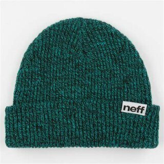 Fold Heather Beanie - black teal