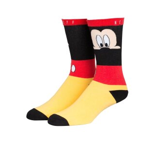 Look Out Mickey Socken - red