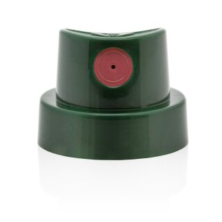 Level 6 Cap - dark green pink