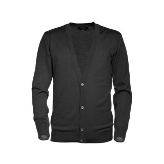 Merino Cardigan - black