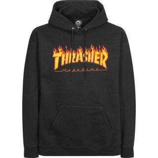Flame Kapuzensweater - black