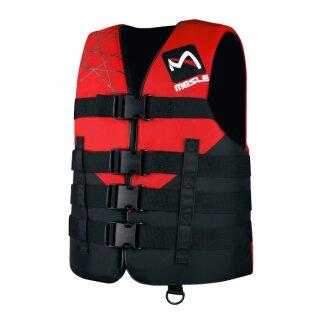 MS Schwimmweste 4-Gurt Club 420D - black red