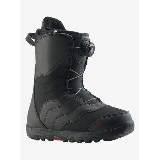 Mint Boa Boots - black