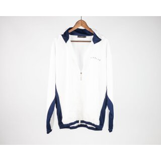 Nylon Tracksuite Top - white blue
