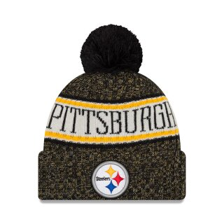 NFL Sideline Bobble Knit Mütze - pittsburgh steelers