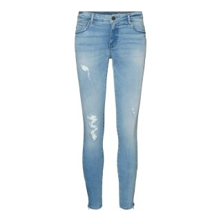 Kimmy Ankle Zip Pant - light blue denim
