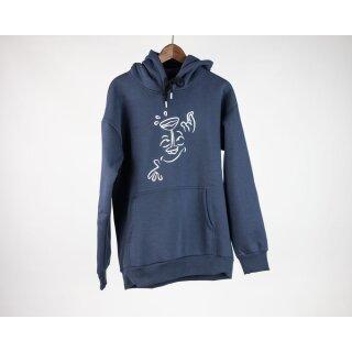 Wine Doodle Kapuzensweater - dark navy