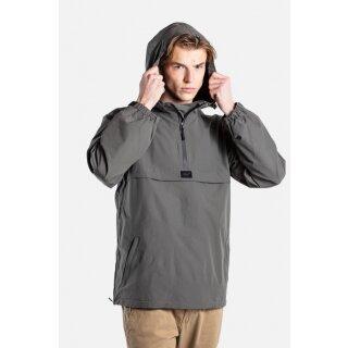 Hooded Windbreaker Jacke - grey