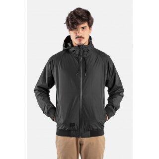 Hooded Rib Jacke - black