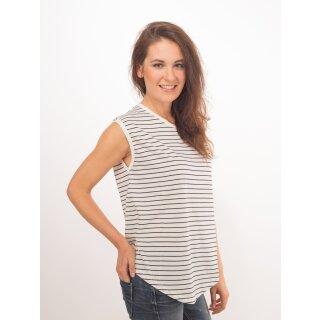 Tabea Top - black & white stripes
