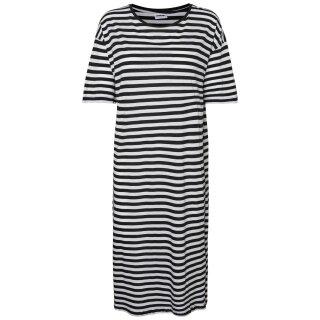 Mayden Dress - black stripes