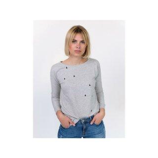 Lena Sweatshirt - light grey triangles
