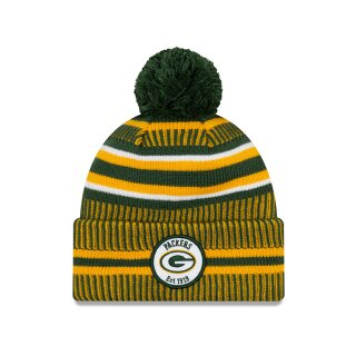 ONF19 Sport Knit Packers Beanie - green yellow white
