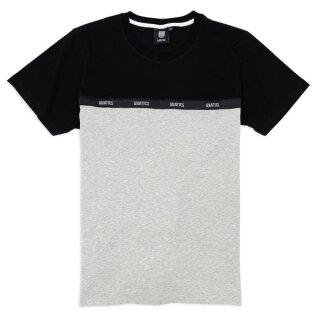 Taping T-Shirt - black grey