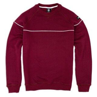 Line Sweatshirt - burgundy
