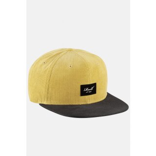 Suede Cap - yellow brown ribcord