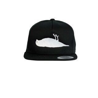 Solid Bird Snapback Hat - black