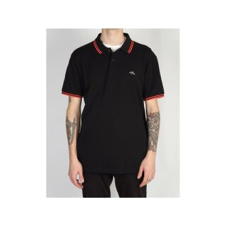 Classic Tipped Polo - black red